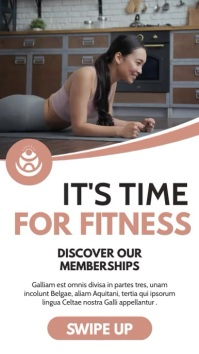it's time for fitness instagram story adverti template