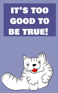 It's too good to be true! Sampul Buku template