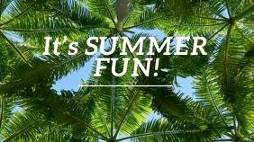 It's Summer Fun Twitter-opslag template