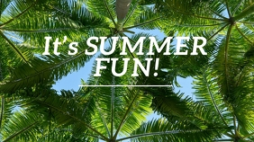 It's Summer Fun Pos Twitter template