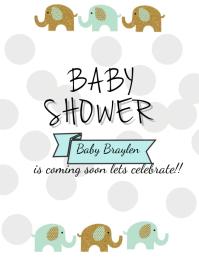 Baby Shower Flyer. Baby Shower. Itu0027s A Boy