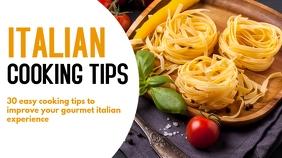 italian cooking pasta tips design template
