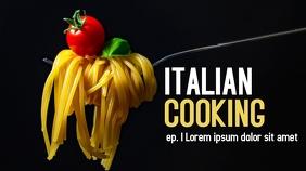 Italian cooking youtube thumbnail design temp