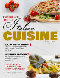 Italian Cuisine Cover Magazine Template Flyer (US Letter)