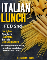 Italian event flyer lunch or dinner