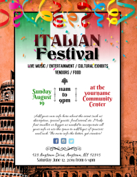 Italian Festival Event Dinner Night Flyer