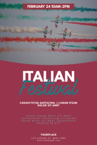 italian Festival Flyer Design Template