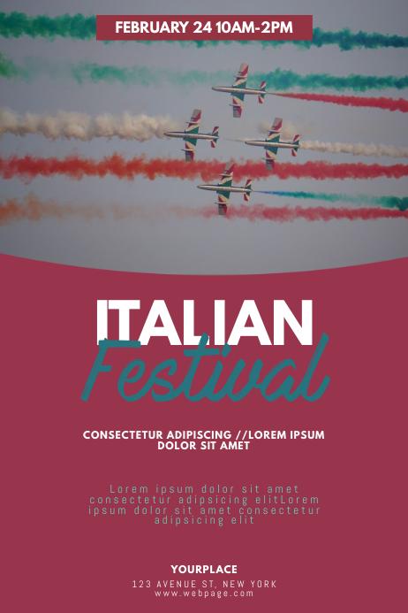 italian Festival Flyer Design Template