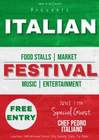 Italian Festival Flyer Template A4
