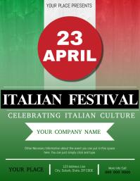 Italian Festival Flyer Template