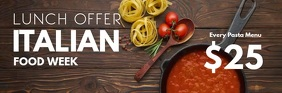 Italian Food header Special Lunch Restaurant Koptekst e-mail template