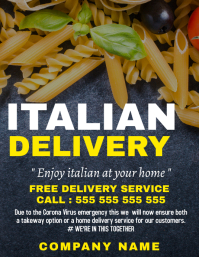 Italian food home delivery service