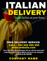 Italian food home delivery template