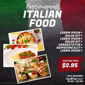 Italian Food Instagram video design template