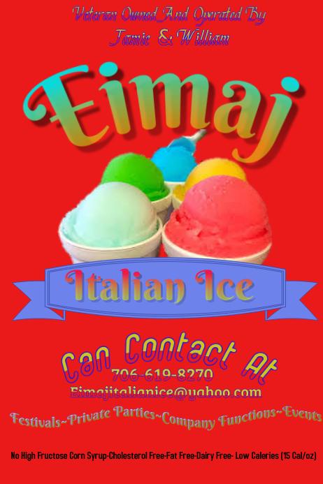 Italian Ice poster Plakat template