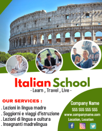 Italian language School flyer advertisement 1