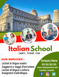 Italian language School flyer advertisement 2