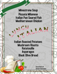 Italian Lunch Рекламная листовка (US Letter) template