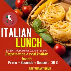 Italian lunch instagram post advertisement
