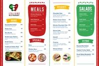 Italian Mediterranean Cuisine Menu Poster template