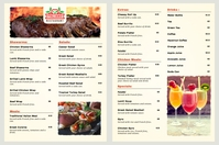 Italian Mediterranean Restaurant Menu Poster template