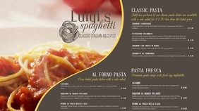 Italian Menu Template Pantalla Digital (16:9)