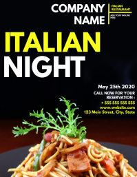 Italian night flyer event template