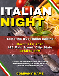 Italian night party flyer advertisement