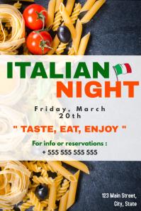 Italian night pasta event