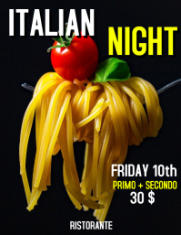 Italian Night restaurant flyer