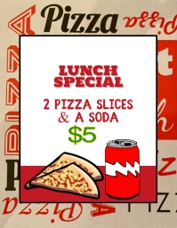 Italian Pizza Lunch Special Flyer Template