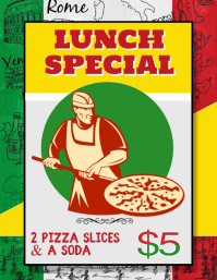 Italian Pizza Lunch Special for fundraiser