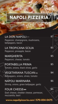 Italian Pizza Menu Board Video