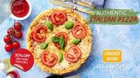Italian Pizza Restaurant Video Ad Affichage numérique (16:9) template