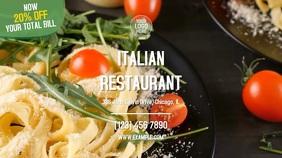 Italian Restaurant Digitale Vertoning (16:9) template