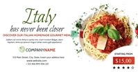 italian restaurant facebook advertising template