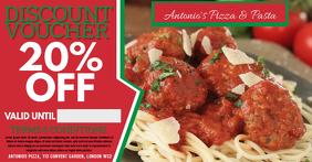 Italian Restaurant Facebook Promo Ad Template