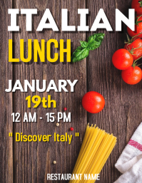Italian Restaurant flyer ad Folder (US Letter) template