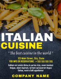 Italian restaurant or night flyer advertiseme