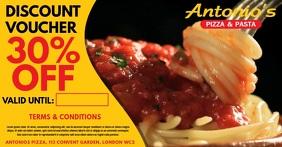 Italian Restaurant Video Promo Ad Template auf Facebook geteiltes Bild