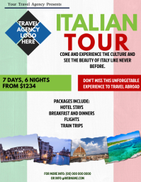 Italian Tour Packages Flyer Template