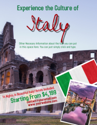 Italian Tour Travel Flyer Template