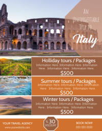 Italy Travel Poster Flyer Template