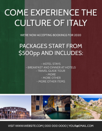 Italy Travel Tour Package Template