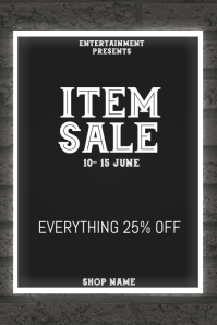 Item sale flyer template