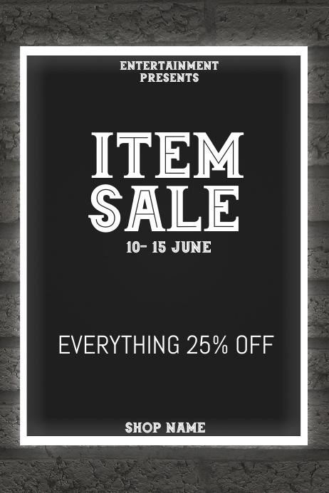 Item sale flyer template