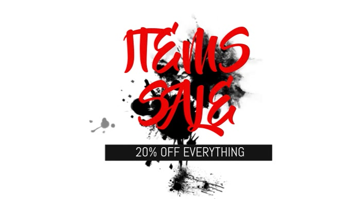 Items sale facebook cover video template