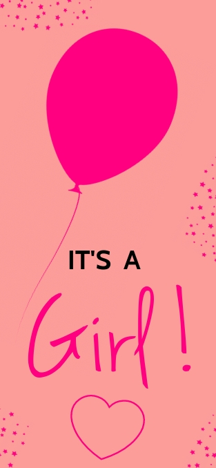 ITS A GIRL TEMPLATE Snapchat Geofilter