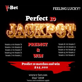 JACKPOT FLYER TEMPLATE Square (1:1)