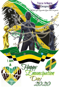 Jamaica's Emancipation 2020 Poster template